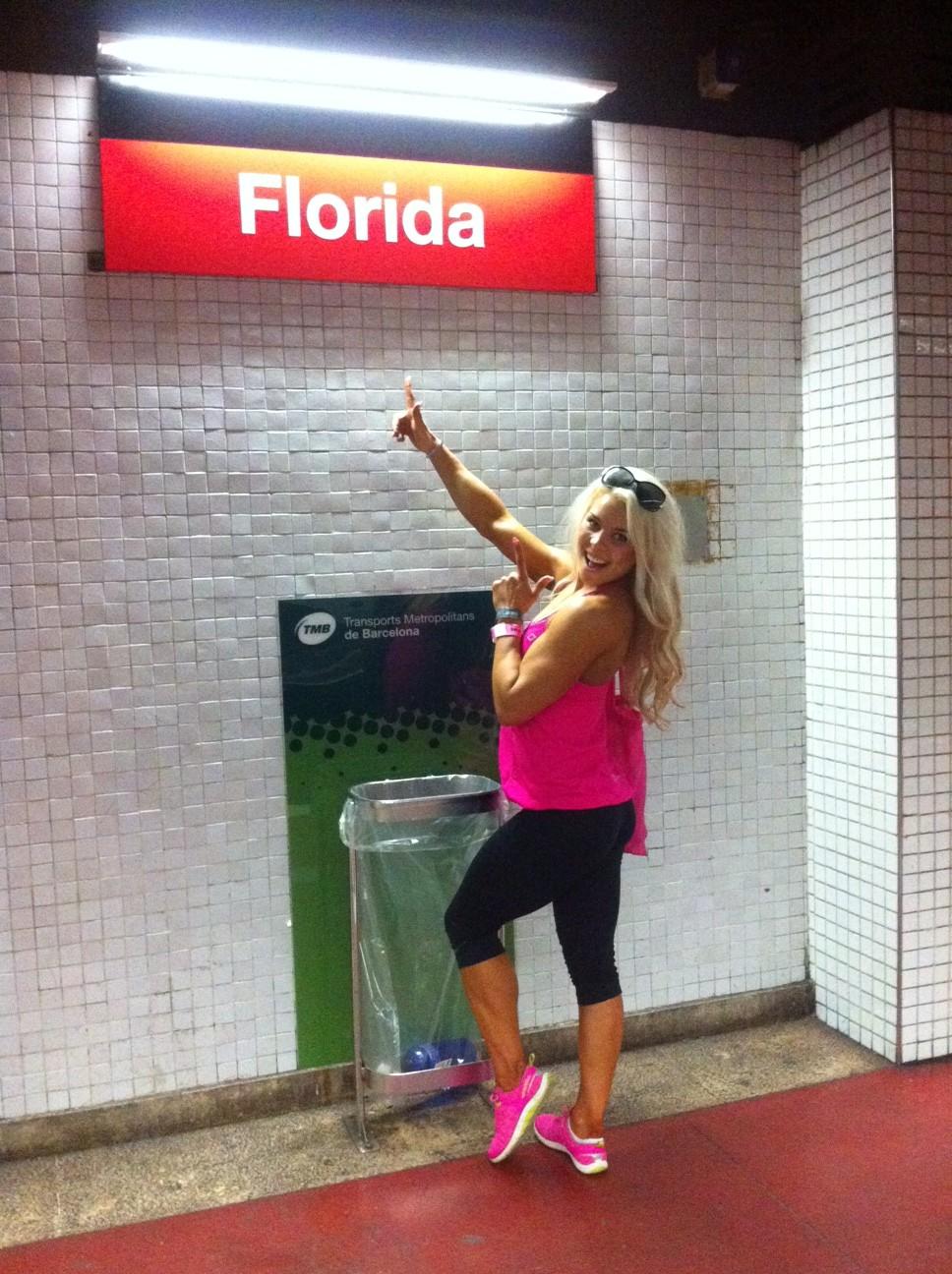 Floridassa! Eikun Barcelonassa.